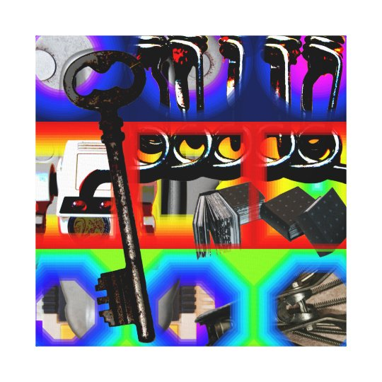 GMT 24 Heures Project Pop Psychedelic Frames S C Canvas Print
