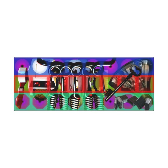 GMT 24 Heures Project Pop soft Psychedelic Frames Canvas Print