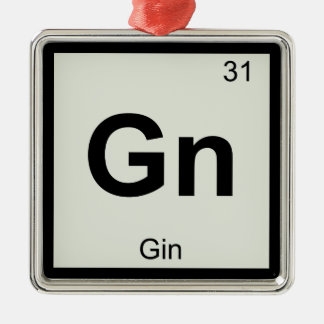 Gn - Gin Chemistry Periodic Table Symbol Metal Ornament