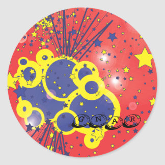 gnar classic round sticker