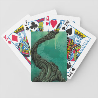 Gnarly Tree and Crescent Moon Poker Deck