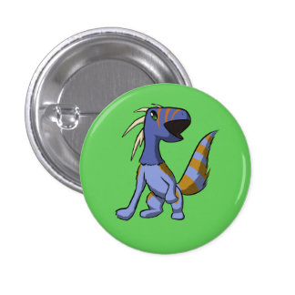 Gnasher Yawning 1 Inch Round Button