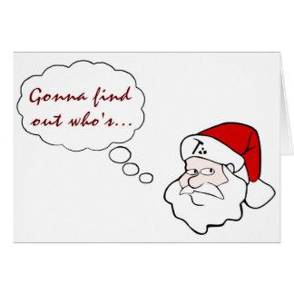 Gnaughty de Père Noël de géologue ou liste de Carte De Vœux