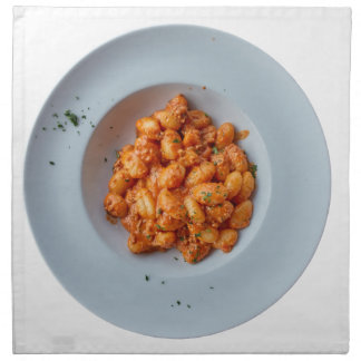 gnocchi with meat sauce napkin