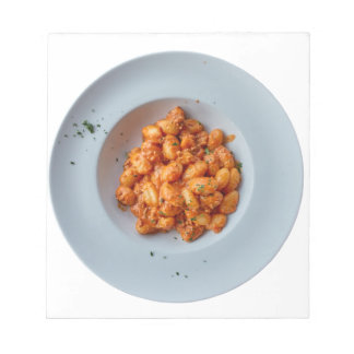 gnocchi with meat sauce notepad