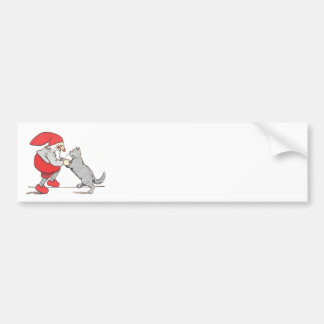 Gnome and Cat Paws Bumper Sticker