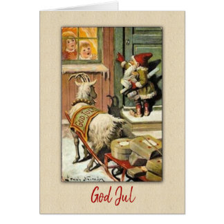 GNOME and GOAT Sweden Tomte Nisse Card