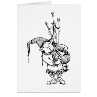 Gnome and His Bagpipes Card