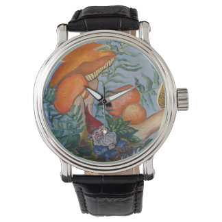 Gnome and Mushrooms Wrist Watches