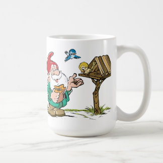 Gnome and Nesting Box Classic White Coffee Mug