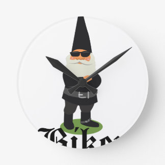 Gnome Biker Wallclock