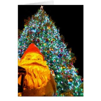 Gnome de Joyeux Noël Carte De Vœux