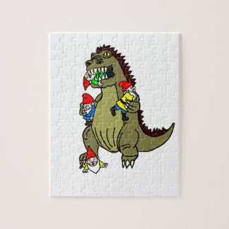 Gnome Eating Monster Jigsaw Puzzle