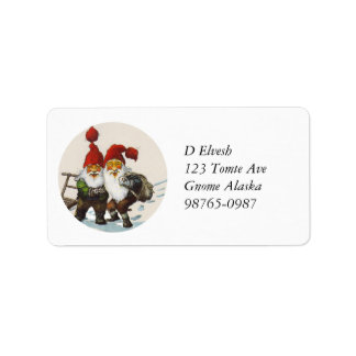 Gnome Friends at Christmas Label