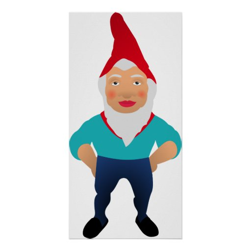 Gnome Garden Little Man Lawn Nome Gnome Underpants Poster