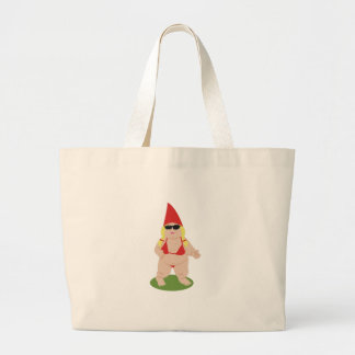 Gnome in Bikini Large Tote Bag