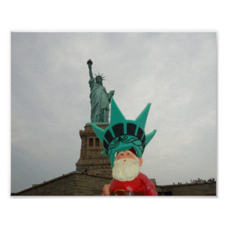 Gnome in New York City! Posters