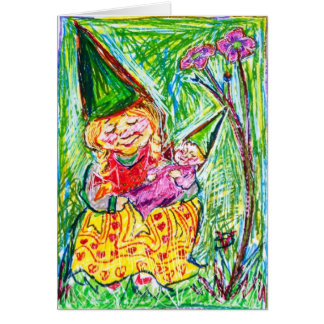 Gnome Mother & Child Card