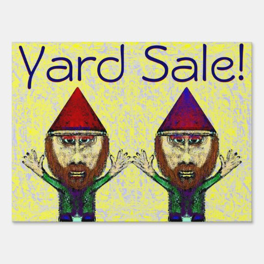 Gnome Nutcrackers Yard Sale Sign
