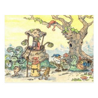 gnome parade postcard