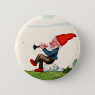 Gnome Playing Music Buttom 2 Inch Round Button