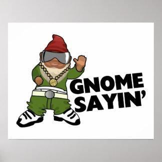 Gnome Sayin Funny Swag Gnome Poster