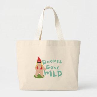 Gnome Wild Large Tote Bag
