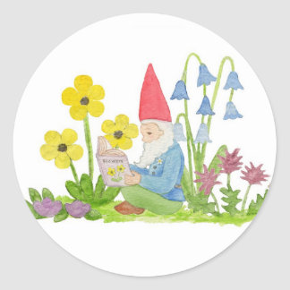 Gnome with Flowers sticker