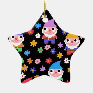 gnomes ceramic ornament