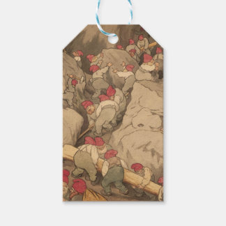 Gnomes Mining in a Cave Gift Tags