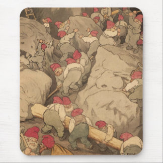 Gnomes Mining in a Cave Mouse Pad