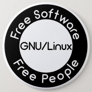 GNU/Linux 6 Inch Round Button