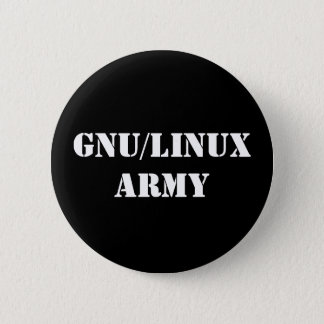 GNU/Linux Army 2 Inch Round Button