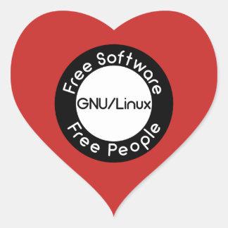GNU/Linux Heart Sticker