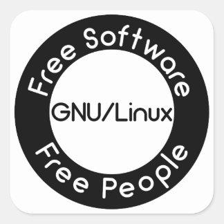 GNU/Linux Square Sticker