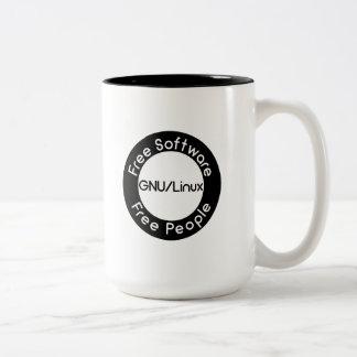 GNU/Linux Two-Tone Coffee Mug