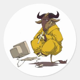 GNU Meditation Levitation Sticker