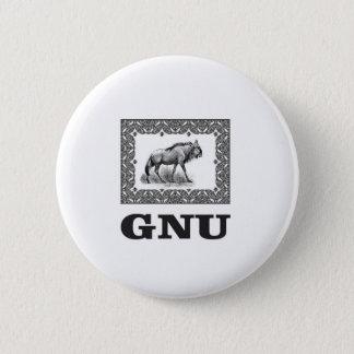 Gnu power art 2 inch round button