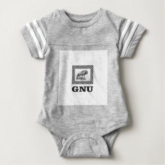 Gnu power art baby bodysuit