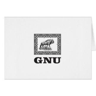 Gnu power art card