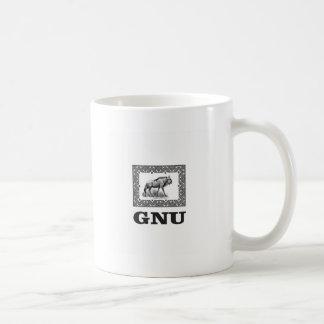 Gnu power art coffee mug