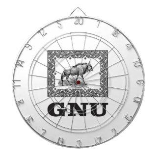 Gnu power art dartboard