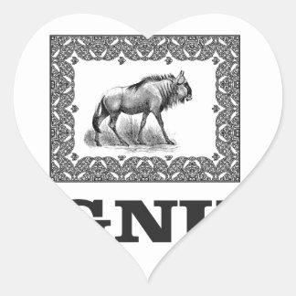 Gnu power art heart sticker