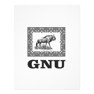 Gnu power art letterhead