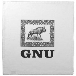 Gnu power art napkin