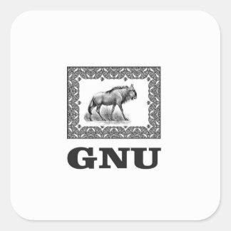 Gnu power art square sticker