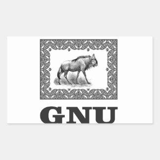 Gnu power art sticker