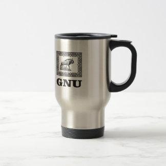 Gnu power art travel mug