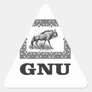 Gnu power art triangle sticker