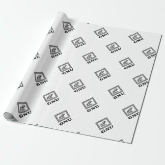 Gnu power art wrapping paper